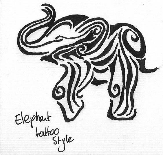 Tribal elephant tattoo designs - photo#6