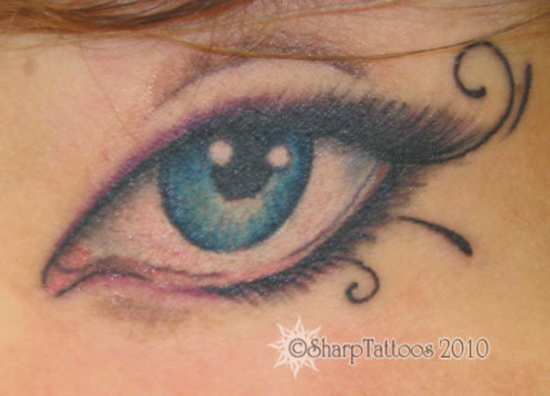 Blue Eyeball Tattoo