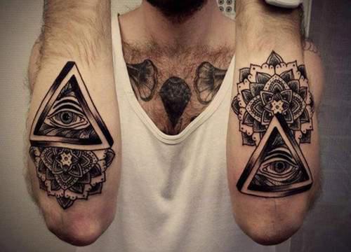 Illuminati Triangle Tattoo Triangle Eye Tattoos On