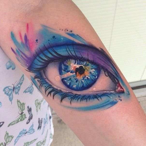 Realistic Eye Tattoo Sleeve
