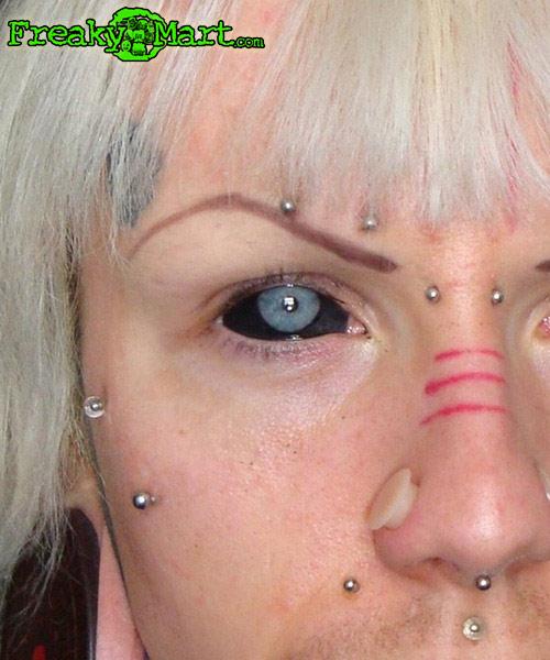 Red Eyes Goat Head And Gargoyle Tattoos