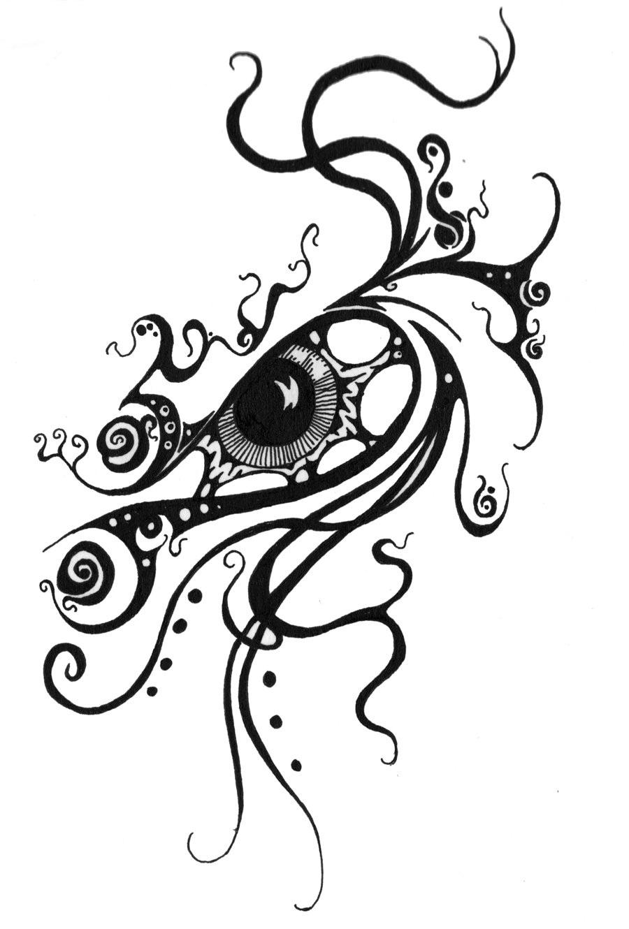 Swirl eye tattoo design for Swirl tattoo designs