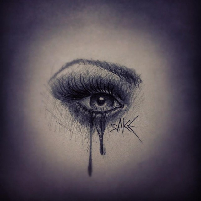 Blue Eye Crying Drawing Crying Eyes Tattoo by
