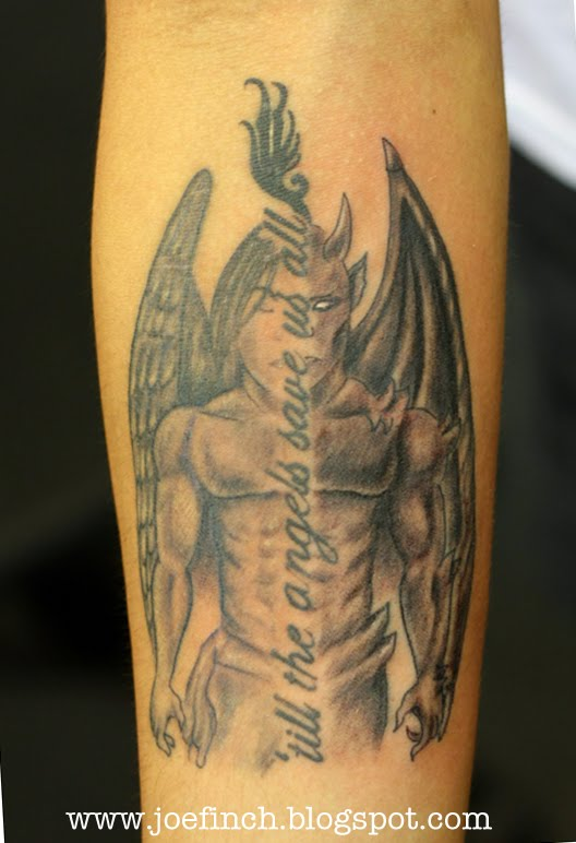 Devil tattoos page 127 for Angel and demon tattoo