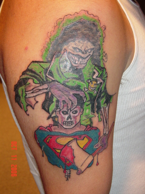 gallery for gt superman half sleeve tattoo