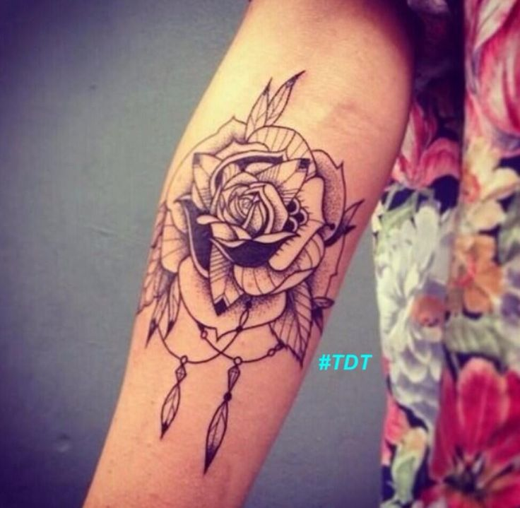 Elbow tattoo images designs for Cool rose tattoos