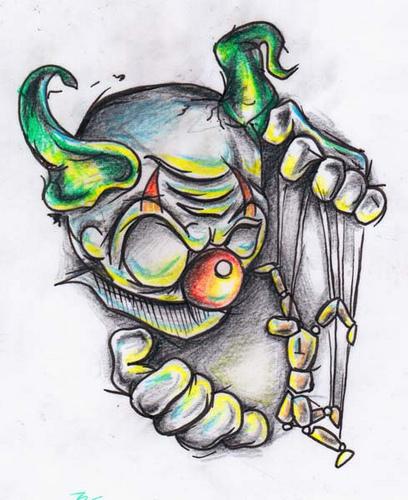 Devil Clown Tattoo Sample