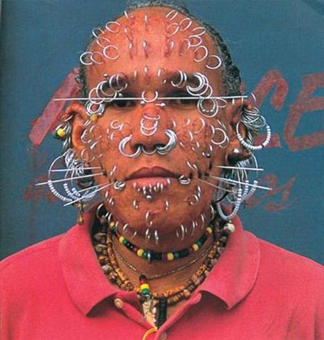 Extreme <b>Tattoo And Piercings</b> On Face