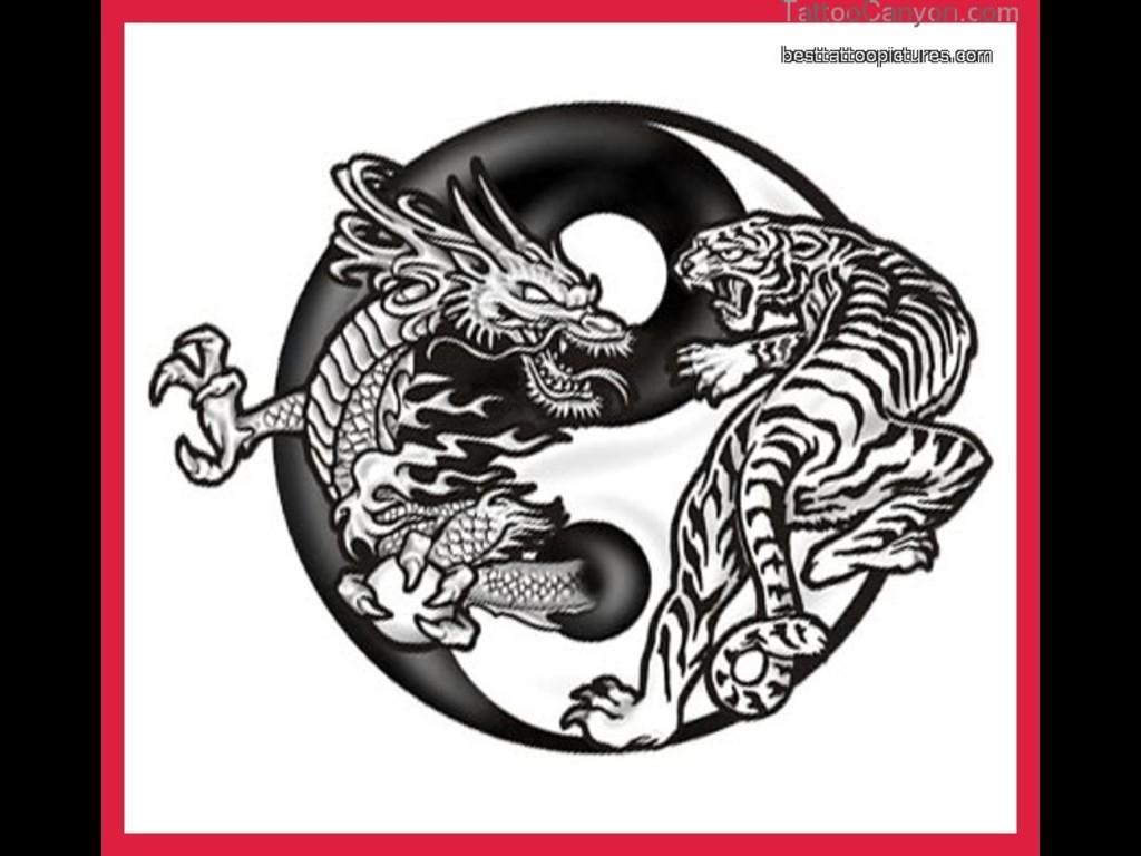 Amazing Dragon And Tiger Yin Yang Tattoo DesignYin Yang Dragon Tiger Wallpaper