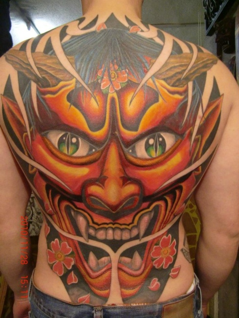 Devil tattoo images designs for Asian face tattoos