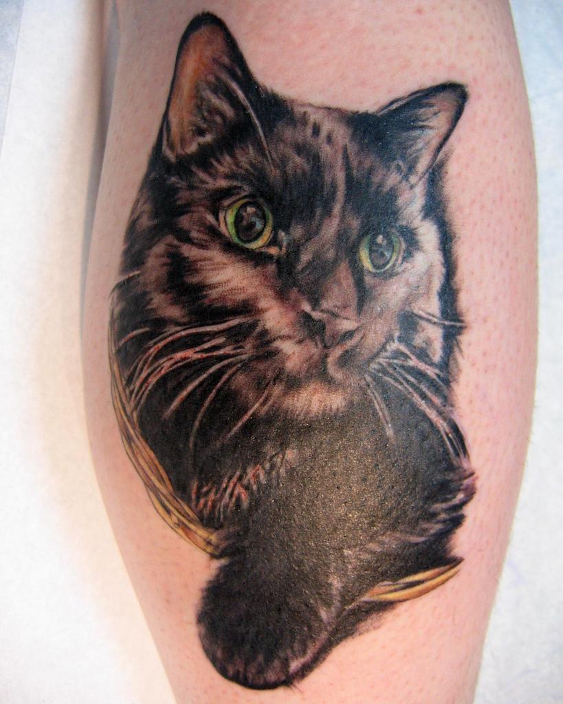 cat tattoo design for girls. Black Bedroom Furniture Sets. Home Design Ideas