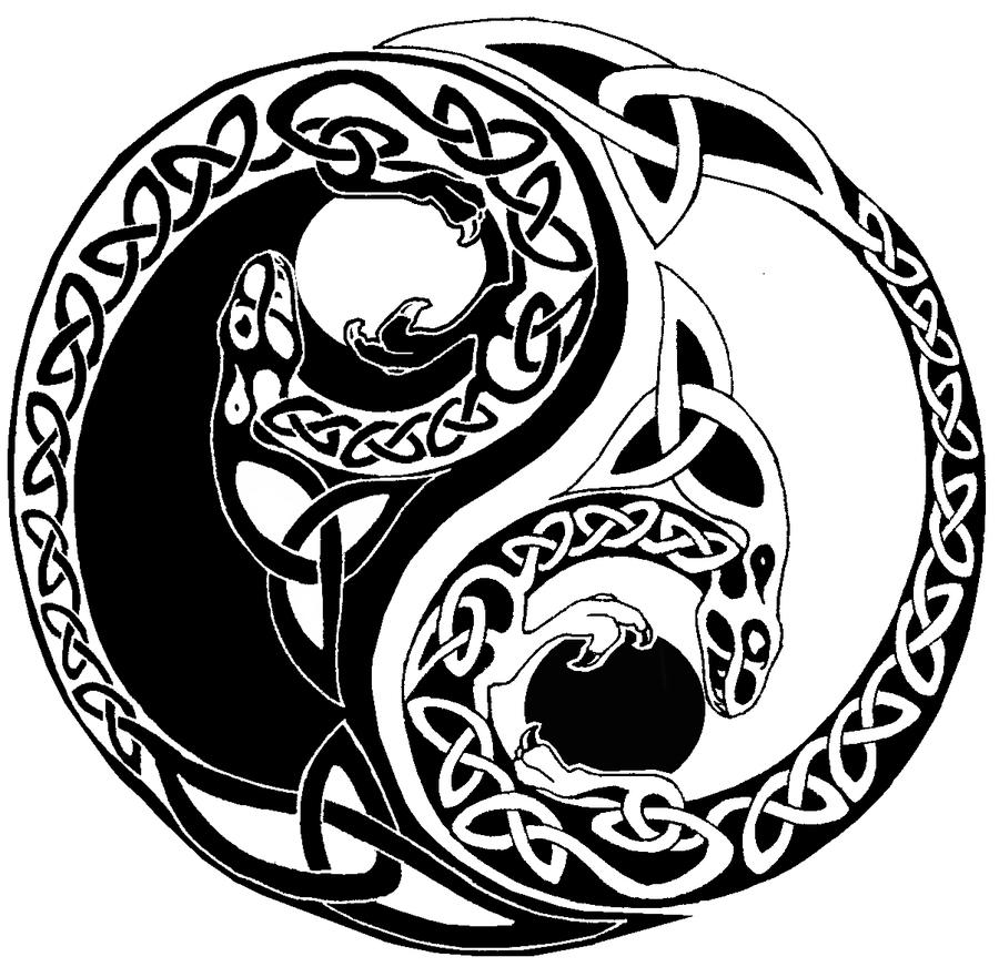 Tattoo Designs Yin Yang Symbol: Yin Yang Tattoo Images & Designs