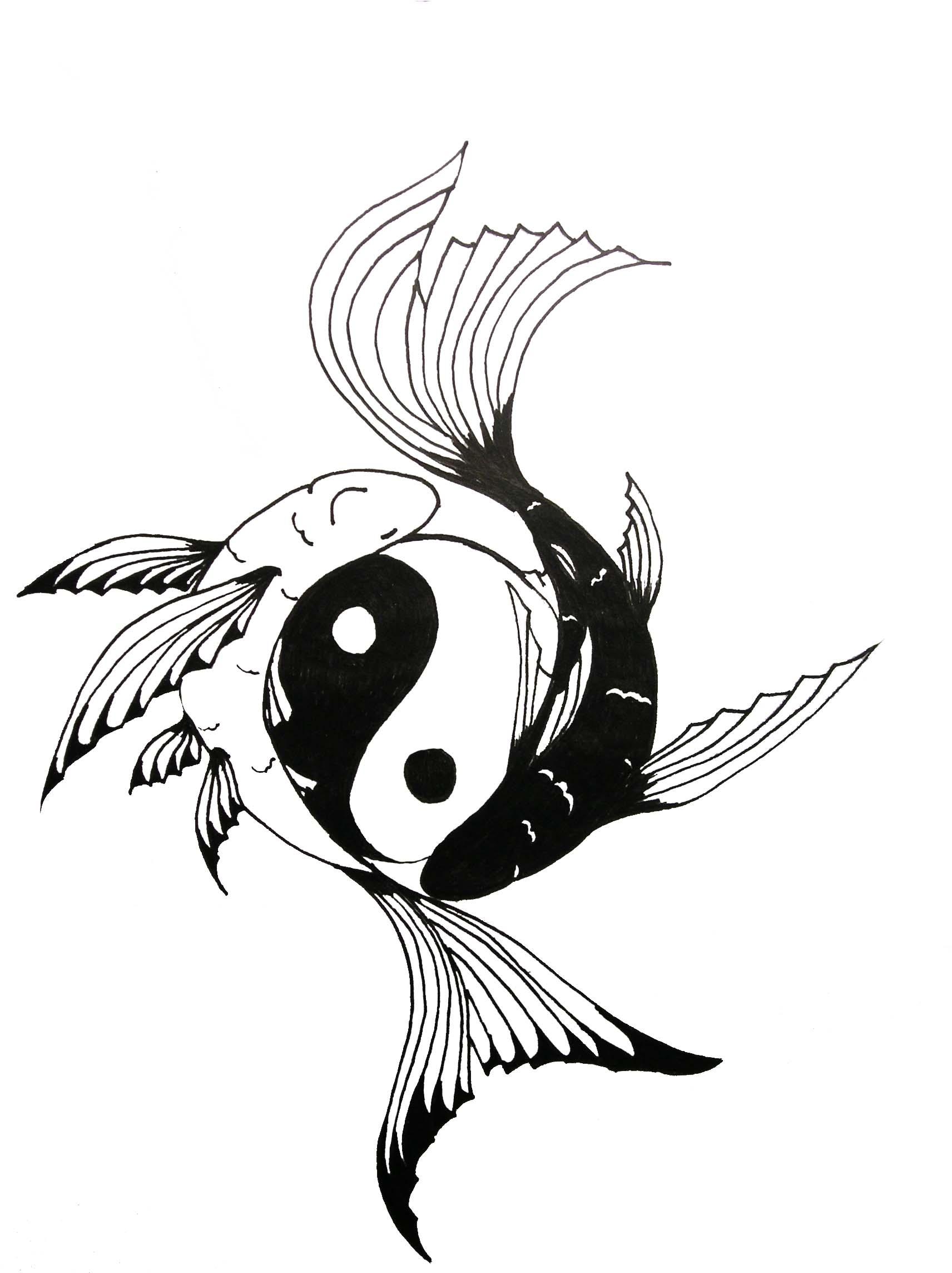 Cool koi fish yin yang tattoo design fish yin yang tattoo designs publicscrutiny Image collections