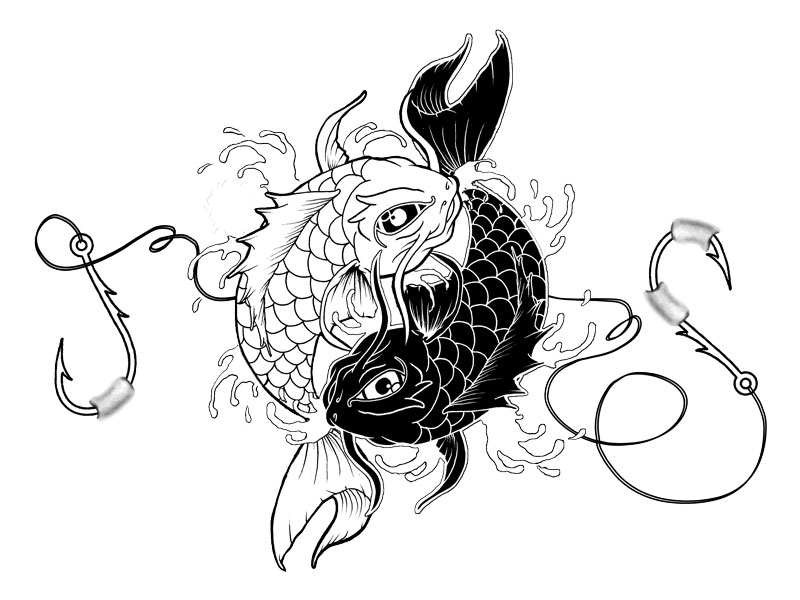 koi fish tattoo yin yang