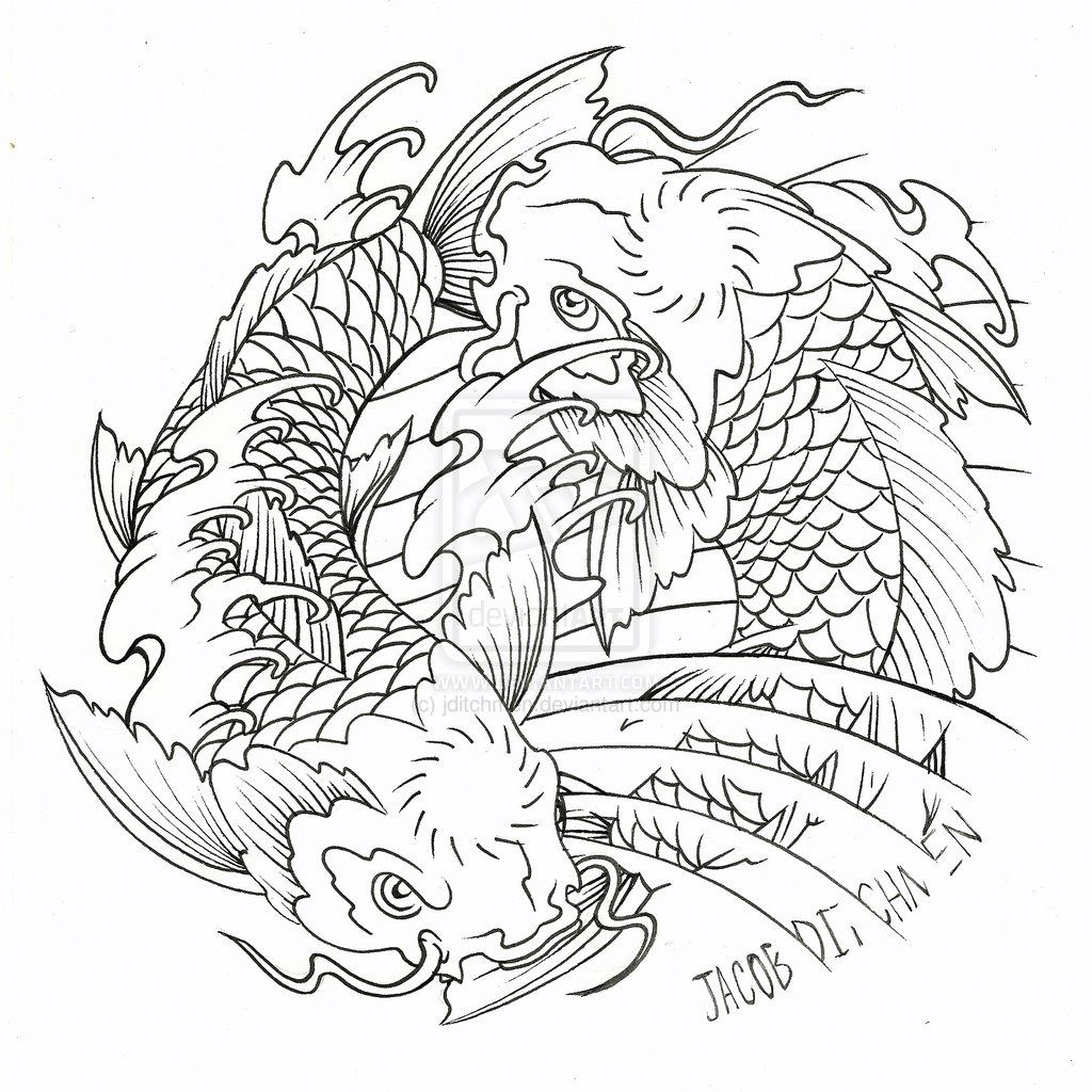 coi carp colouring pages (page 2)
