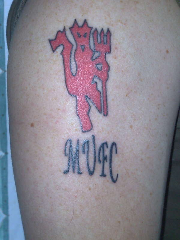 manchester united devil tattoo design