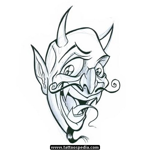 Demon Head Tattoo Designs Images & Pictures - Becuo Zombie Head Stencil