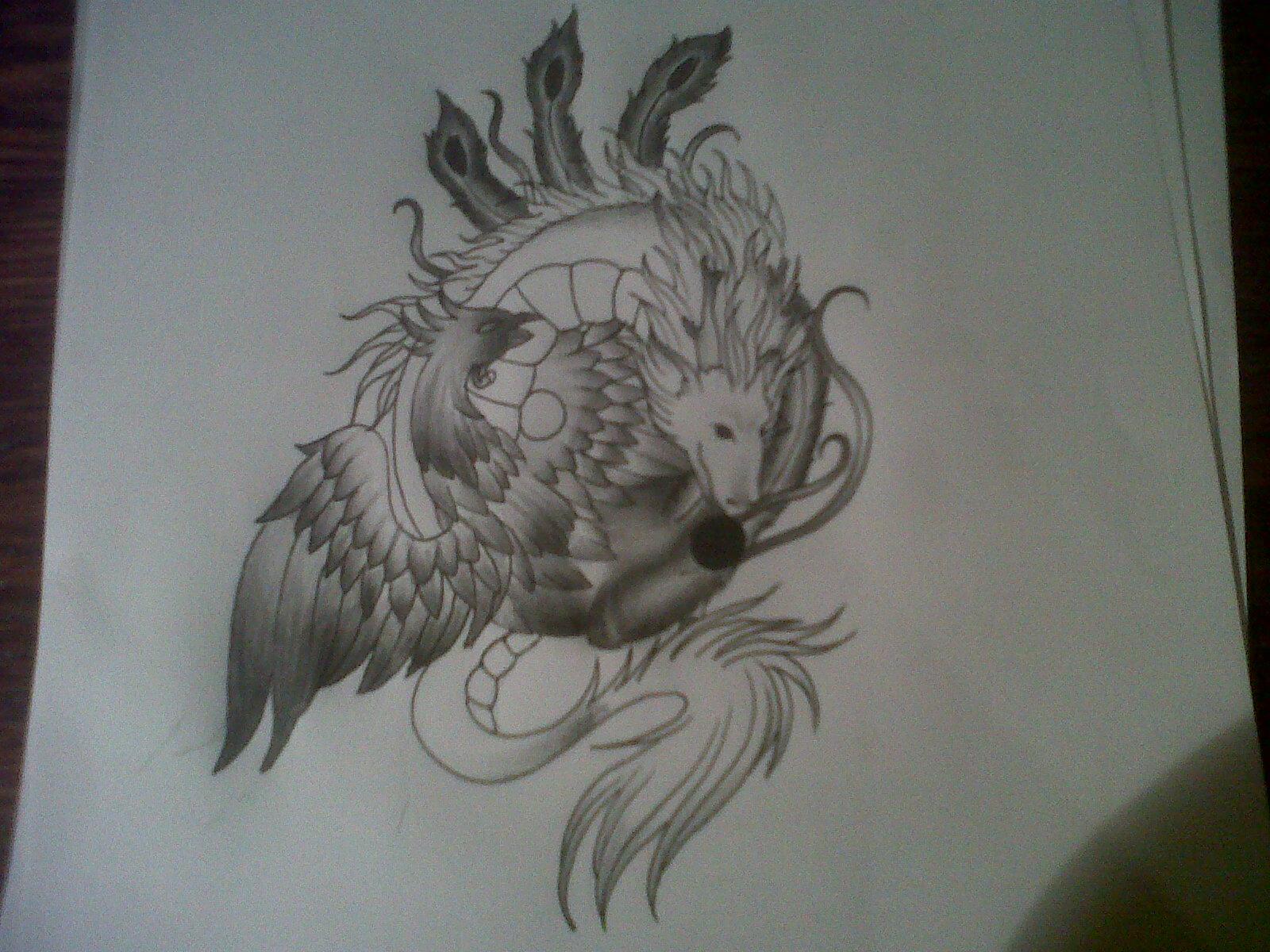Phoenix Dragon Tattoo
