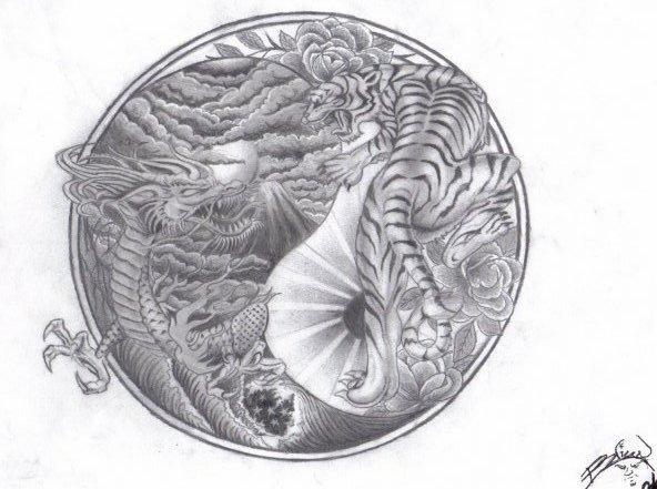 Yin Yang Dragon Tiger Tattoo Meaning - Skin Arts