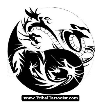 tattoos tribal couples Yin Dragon Tattoo Yang Design Tribal
