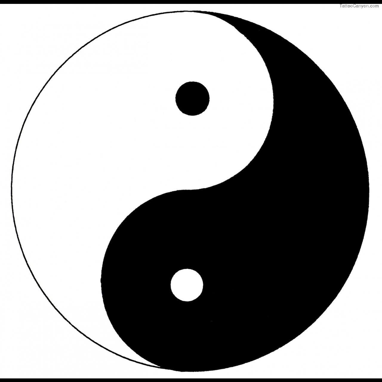 Yin Yang Symbol Tattoo