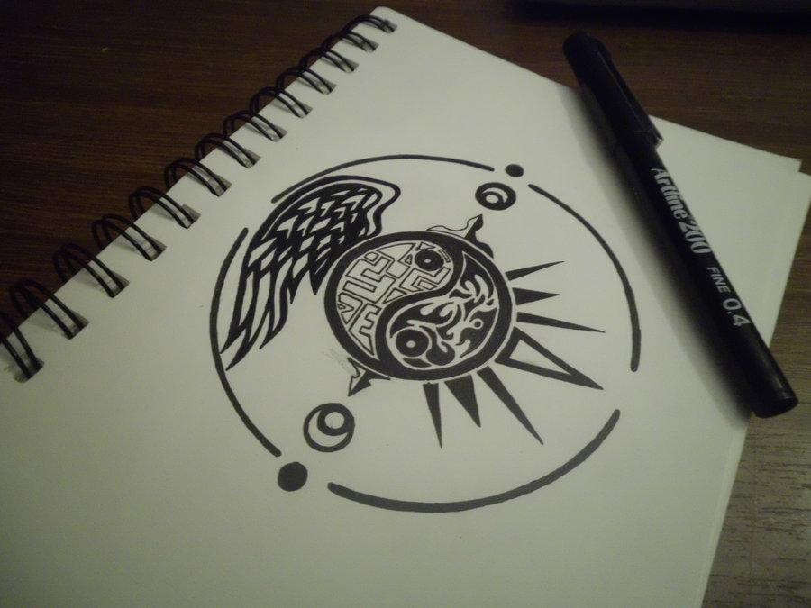 Yin Yang Tattoo Drawing