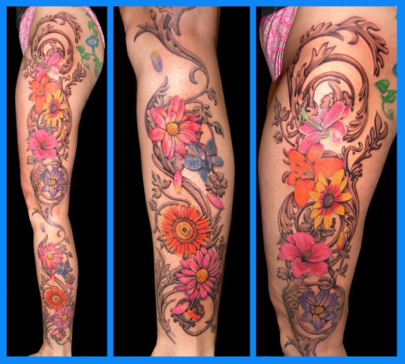 Leg Tattoo Images &amp Designs