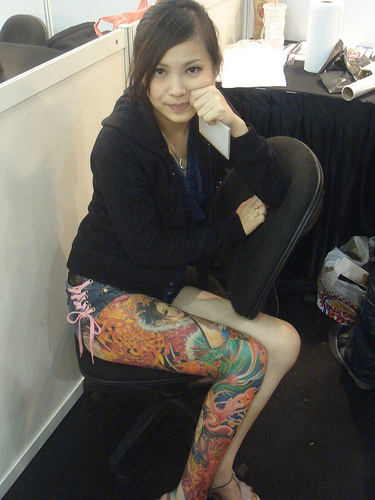 tattoo leg thigh tattoos sleeve designs japanese right colored geisha bmx milf kelly remember looking things lady latest bensimon flickriver