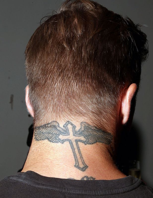 Neck tattoo images designs for Back neck tattoos for guys