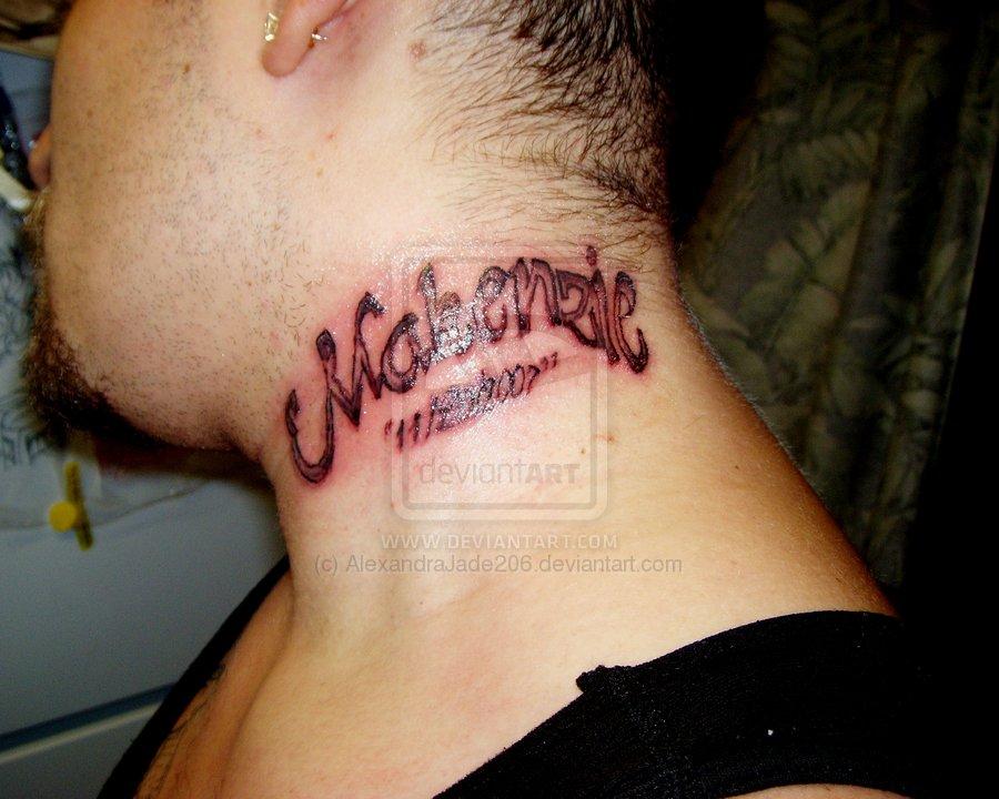 Daughter name memorial neck tattoo for Memorial tattoos for daughter