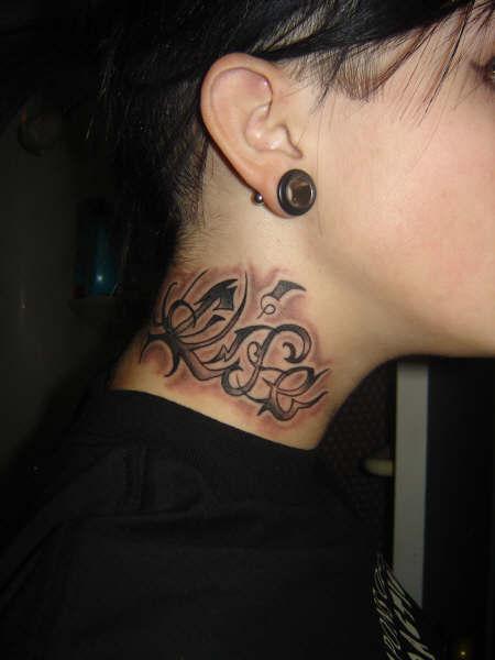 neck tattoo images designs