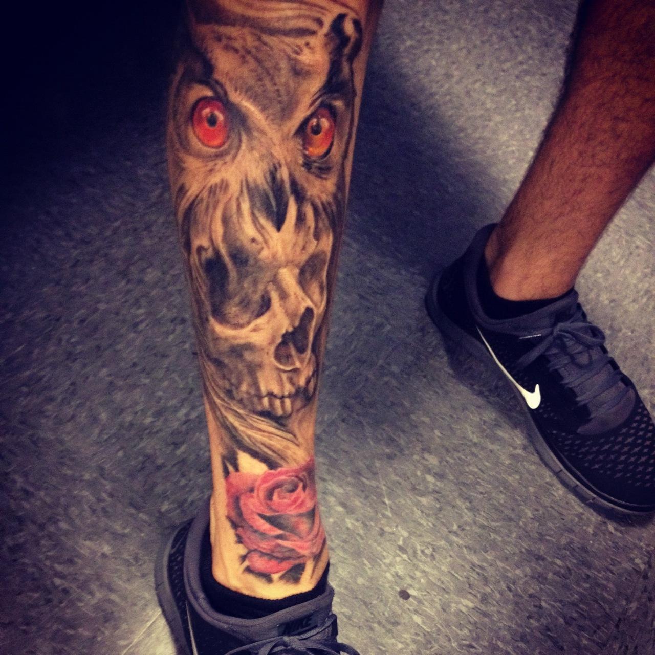 Leg Tattoo Men