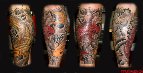 Koi Tattoo Thigh