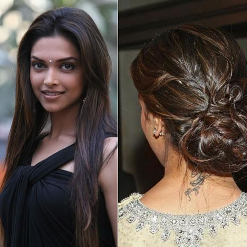 Deepika Padikone Back Neck Tattoo
