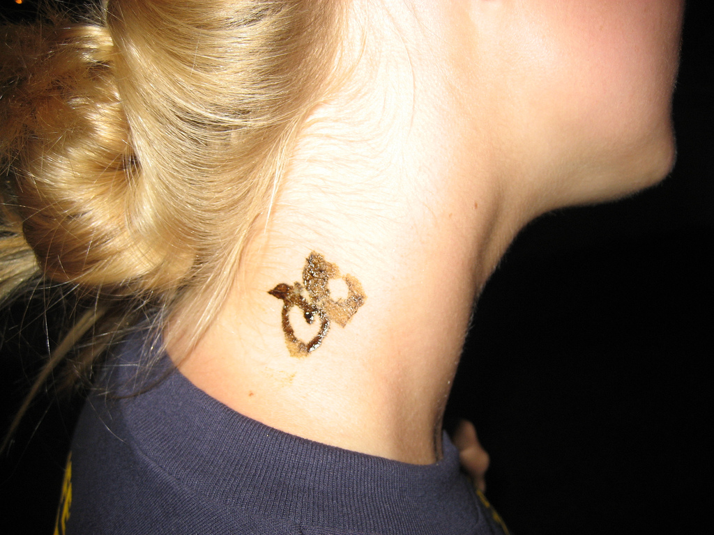 Henna Neck Tattoo