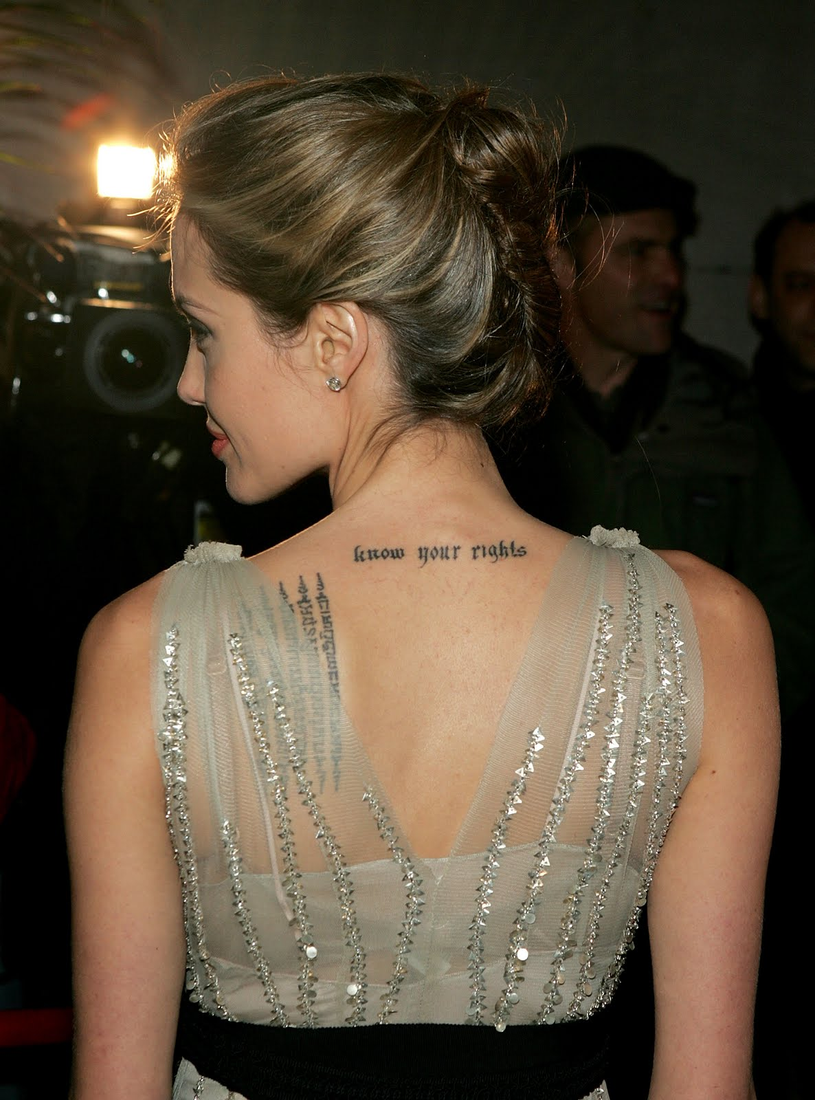 Know Your Rights Back Neck Tattoo