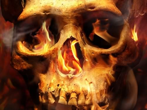 Fire skull tattoo voltagebd Choice Image