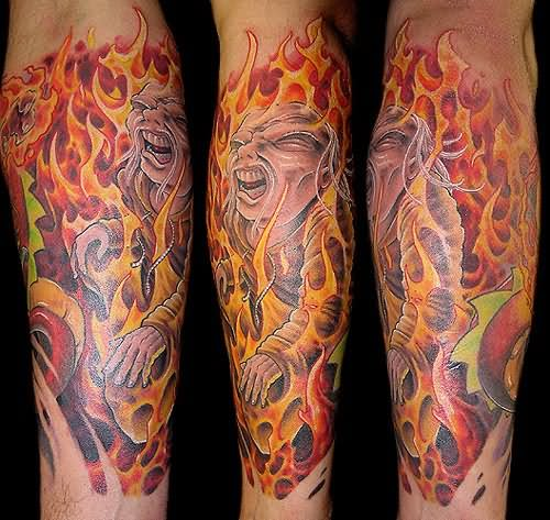 Fire and Flames Tattoos
