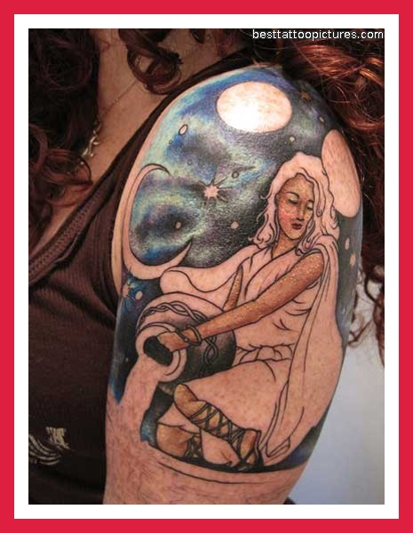 Aquarius tattoo images designs for Beautiful half sleeve tattoos