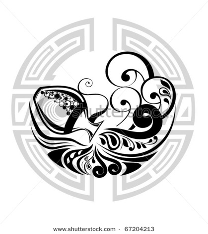 4b7eac802d2b9 Black Tribal Aquarius Tattoo Designs