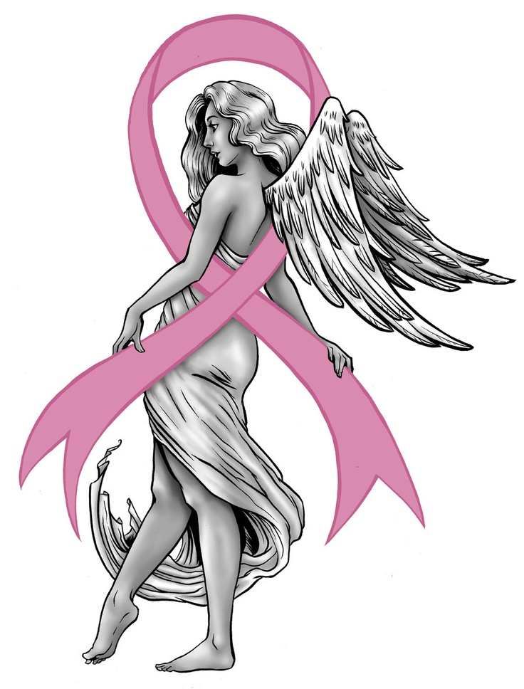 Angel Cancer Ribbon Tattoos Angel pink ribbon cancer