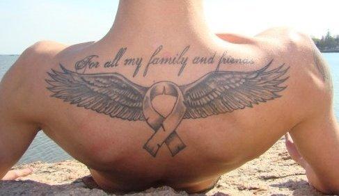Angel Cancer Ribbon Tattoos