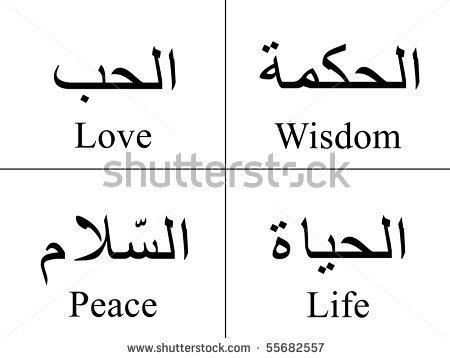 Arabic Symbol Tattoos Designs