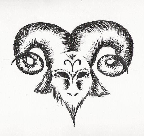 410e672b144fe Aries Head Tattoo Design