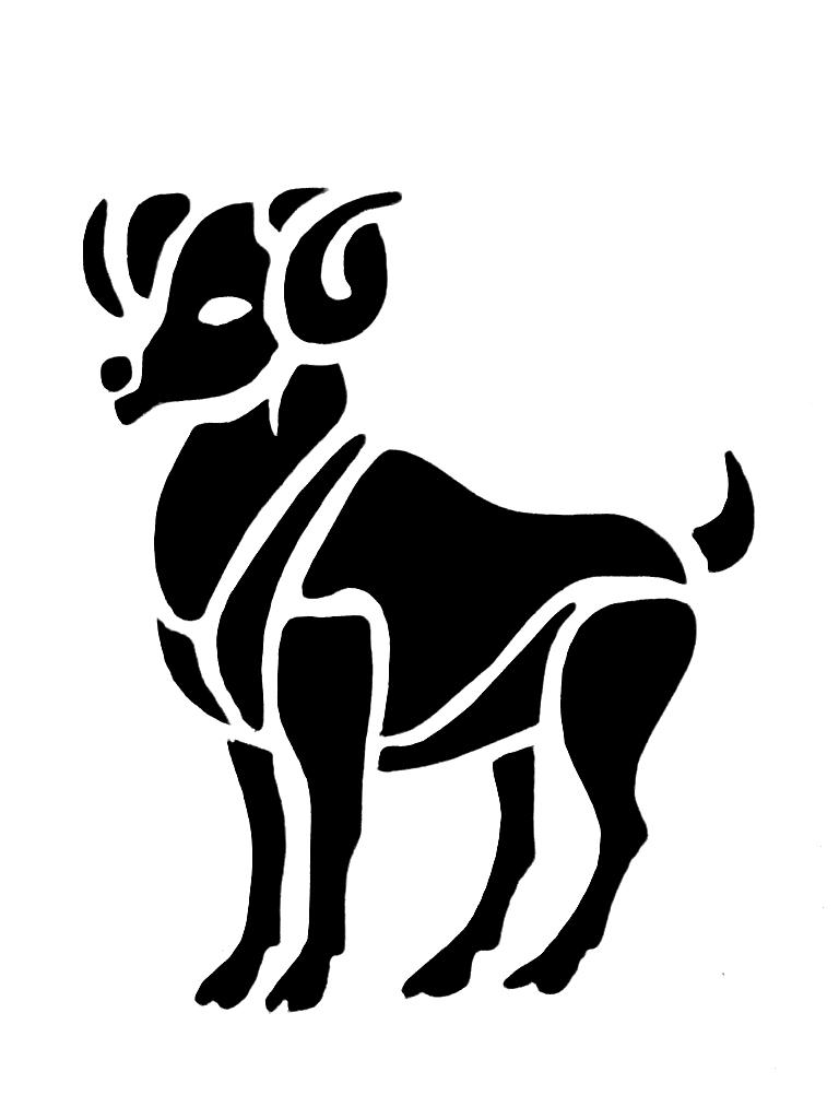 Aries tattoo images designs black ink goat aries zodiac tattoo design biocorpaavc