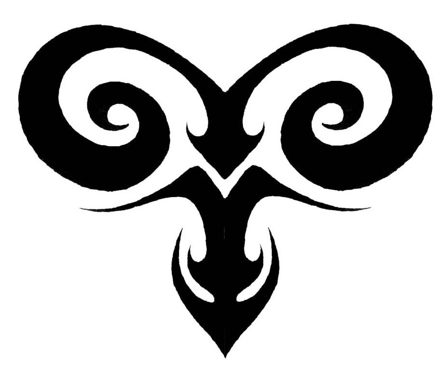 Tribal Tattoo Symbol: Aries Tattoo Images & Designs