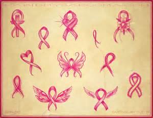 Pink Ribbon Breast Cancer Tattoo