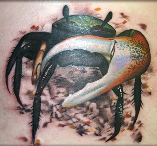 maori crab cancer tattoo