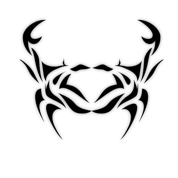Crazy Tribal Cancer Tattoo Design