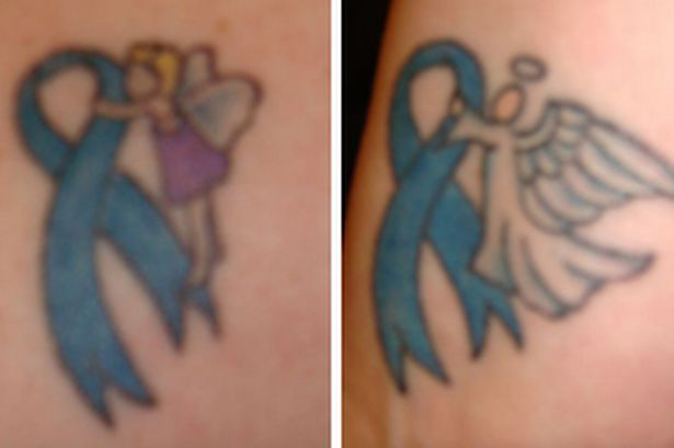 Fairy And Angel Breast Cancer Tattoo